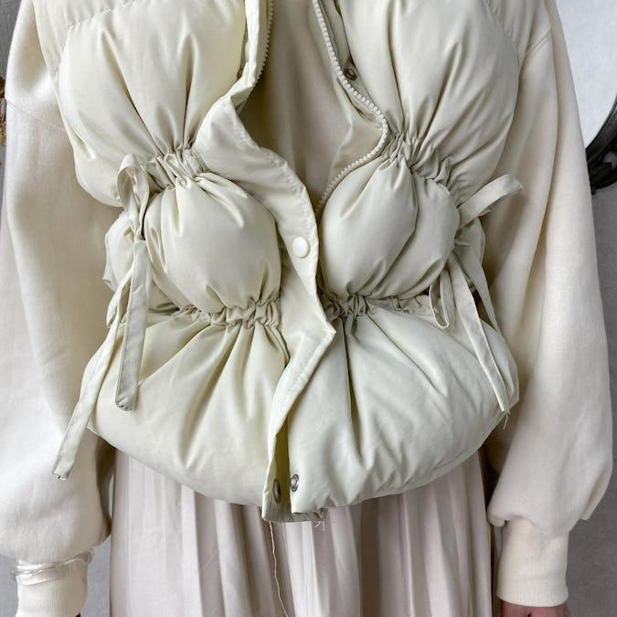 drost ribbon down vest