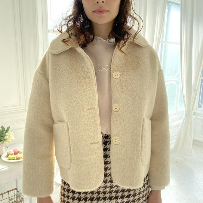 【12/5~順次発送】shaggy girly blouson