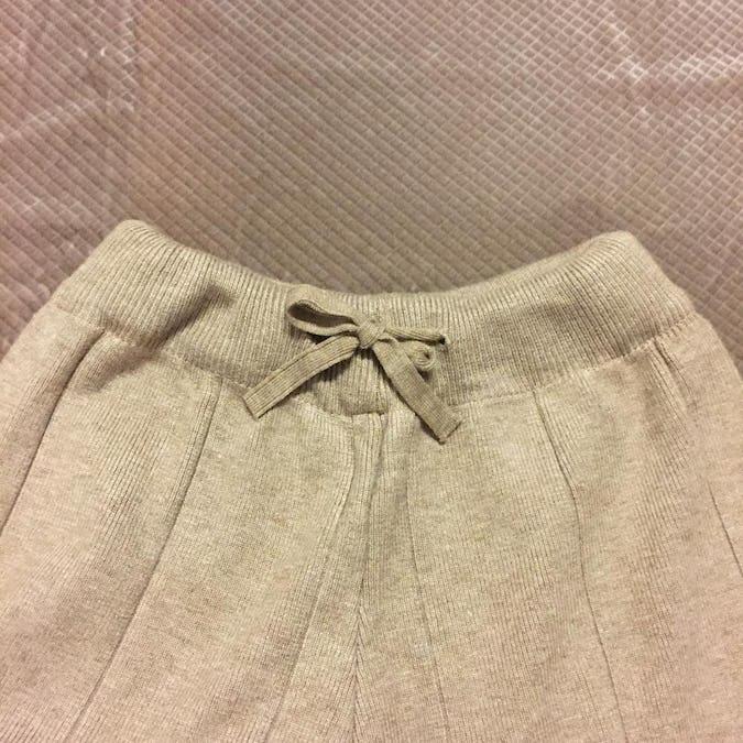scallop knit pants