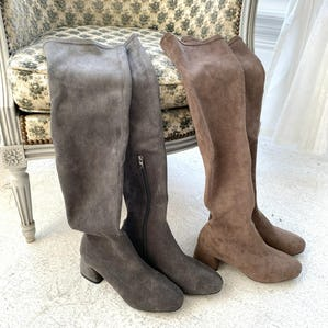 【12/5~順次発送】suede knee high boots