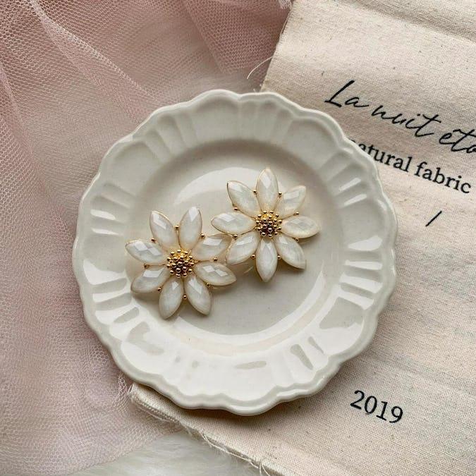 jewel flower  earring-0
