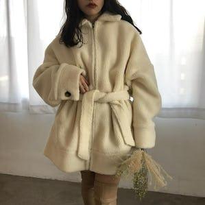 rêve 2way boa coat