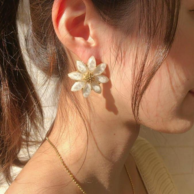 jewel flower  earring
