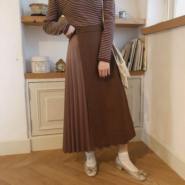 アシメプリーツスカートの画像2枚目