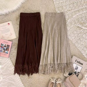 lace knit pleats sk