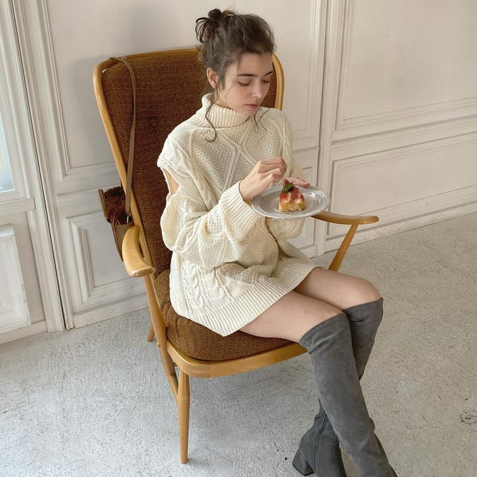 cable azato knit one-piece-0