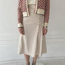 laceup trapezoid skirt