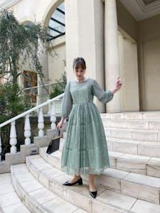 peony bouquet dress