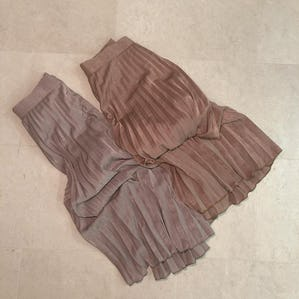 【12/12~順次発送】pleats long skirt