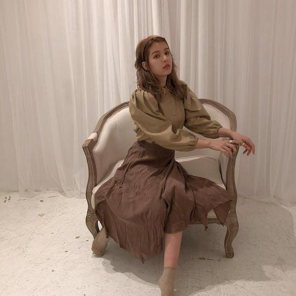 クシュスエードスカートの画像2枚目
