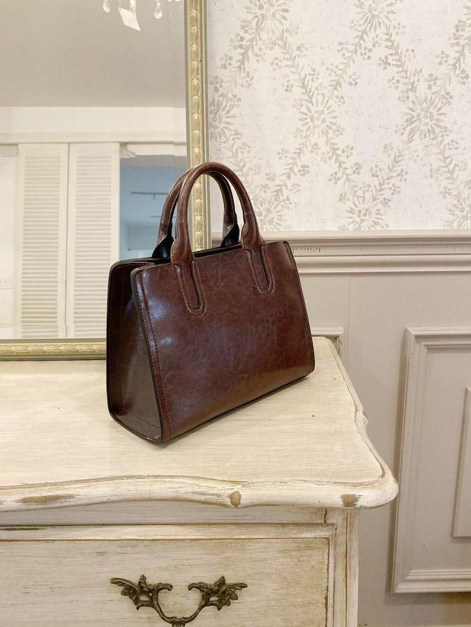 2way brown hand bag-0