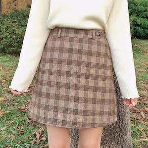 girly check mini skirt