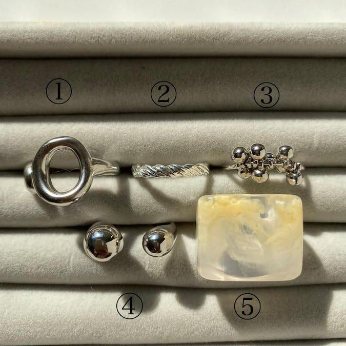 marble drop ringset