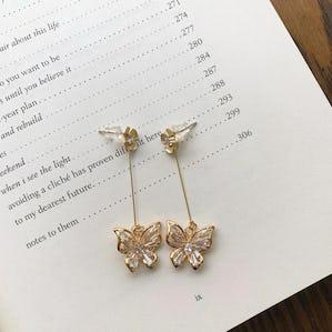 crystal butterfly pierce