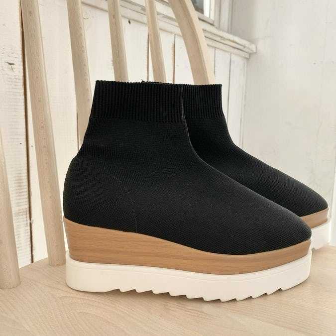 socks thick sole boots