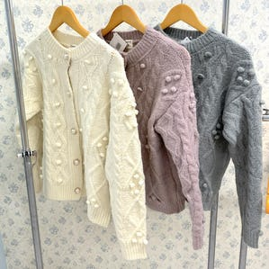 pearl  button poco poco knit cardigan