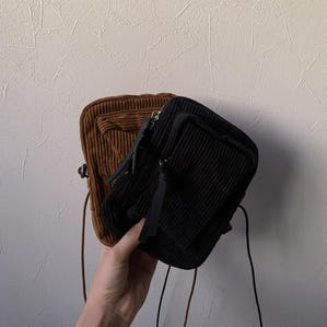 2way corduroy mini bag