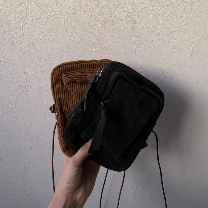 2way corduroy mini bag-0