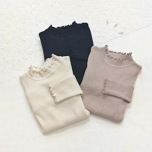 petit frill rib knit