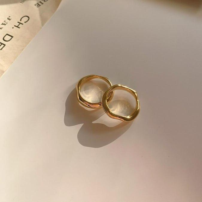 【silver 925】pair ring set GOLD-0