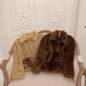 mocha fur coat