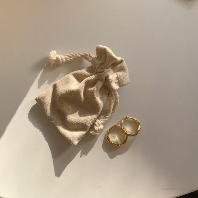 【silver 925】pair ring set GOLD