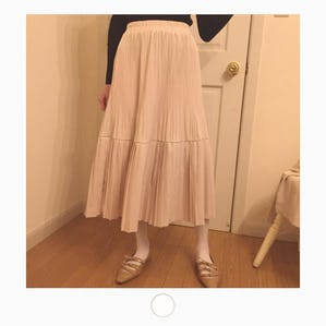 princess pleats skirt
