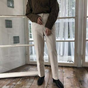 natural straight slacks