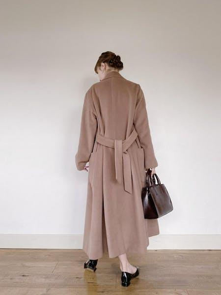 dusty pink long coatの画像19枚目