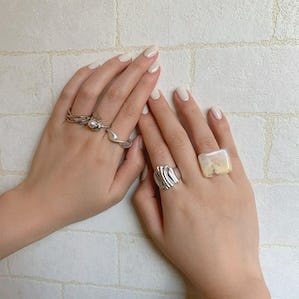shell cube ring set