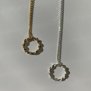 silver925 circle necklace GOLD