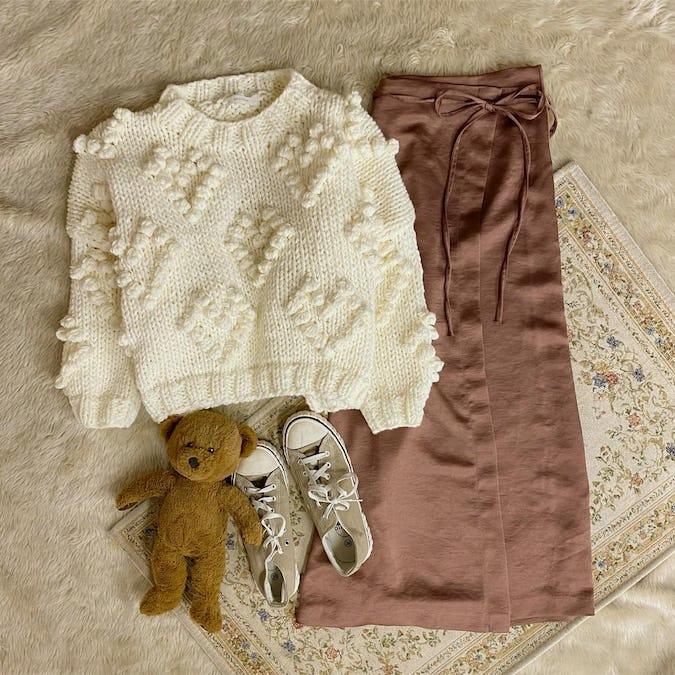 サテンリボンスカート