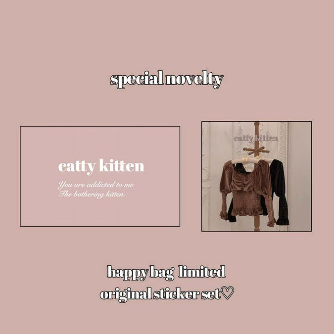 catty winter happy bag(8,000yen)