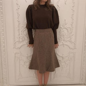 otona check skirt