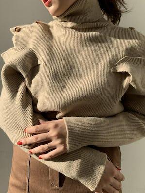 2way high neck knit