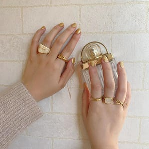 ribbon girly marble ringset
