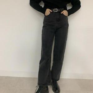 hign waist belt pants