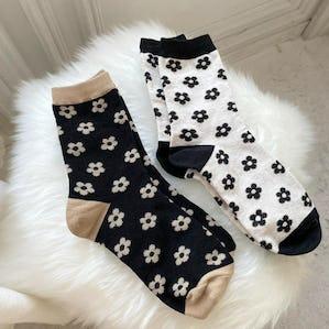rétro flower socks
