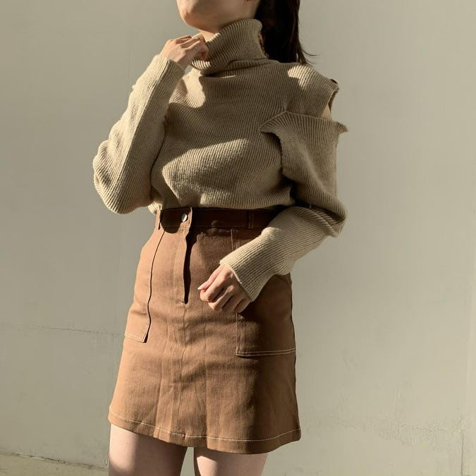 stitch mini skirt-0
