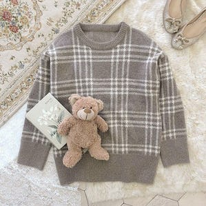girly check knit