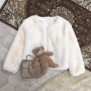 milk fur coat