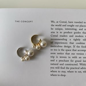 pearl bubble ear cuff