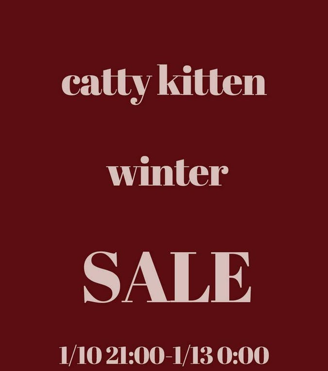 ♡catty kitten limited winter salem♡ ポイントもゲットできる!?