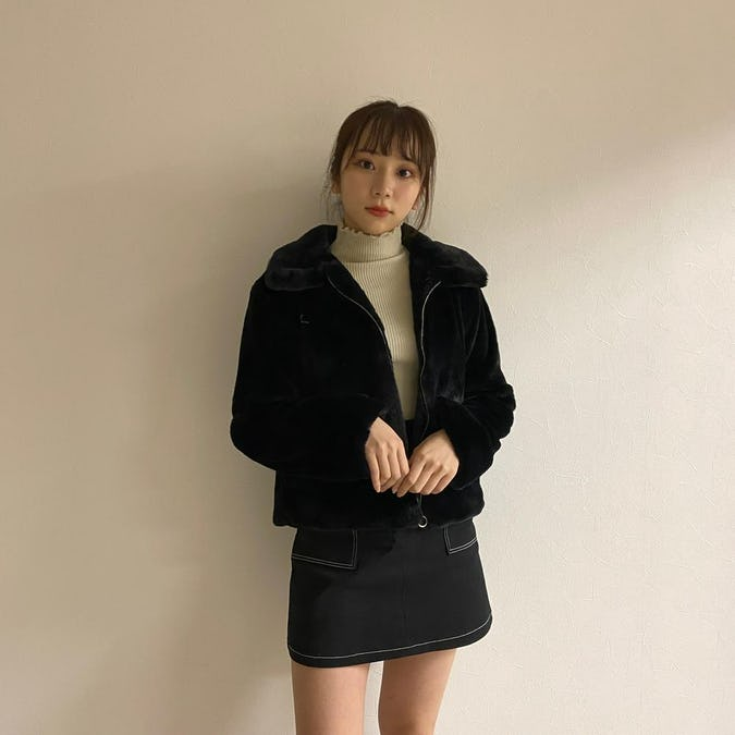 stitch mini skirt