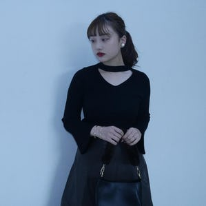 choker neck knit