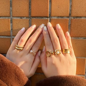 maple pearl ring set