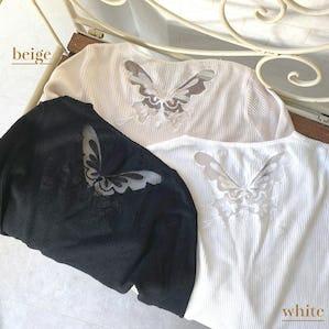 butterfly V neck tops