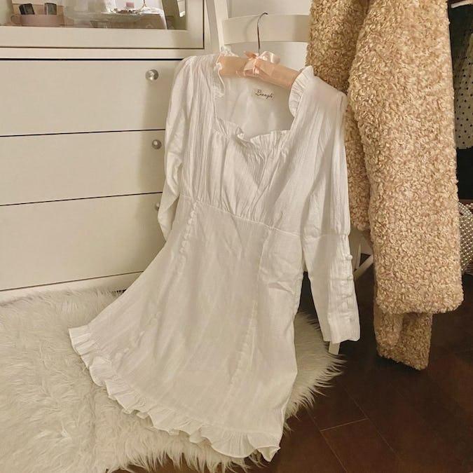 cotton puff tunic