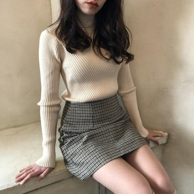 ziguzagu rib knit