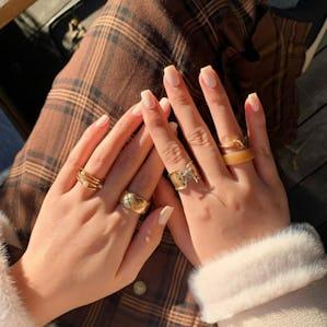 laceup lilas ringset